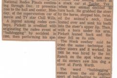 bill pickett hall of fame article