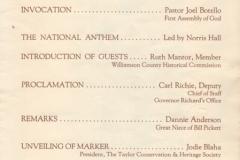 bill pickett marker dedication 1992 page3